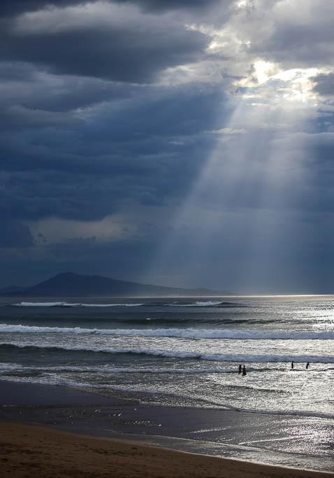 ocean orage lumiere