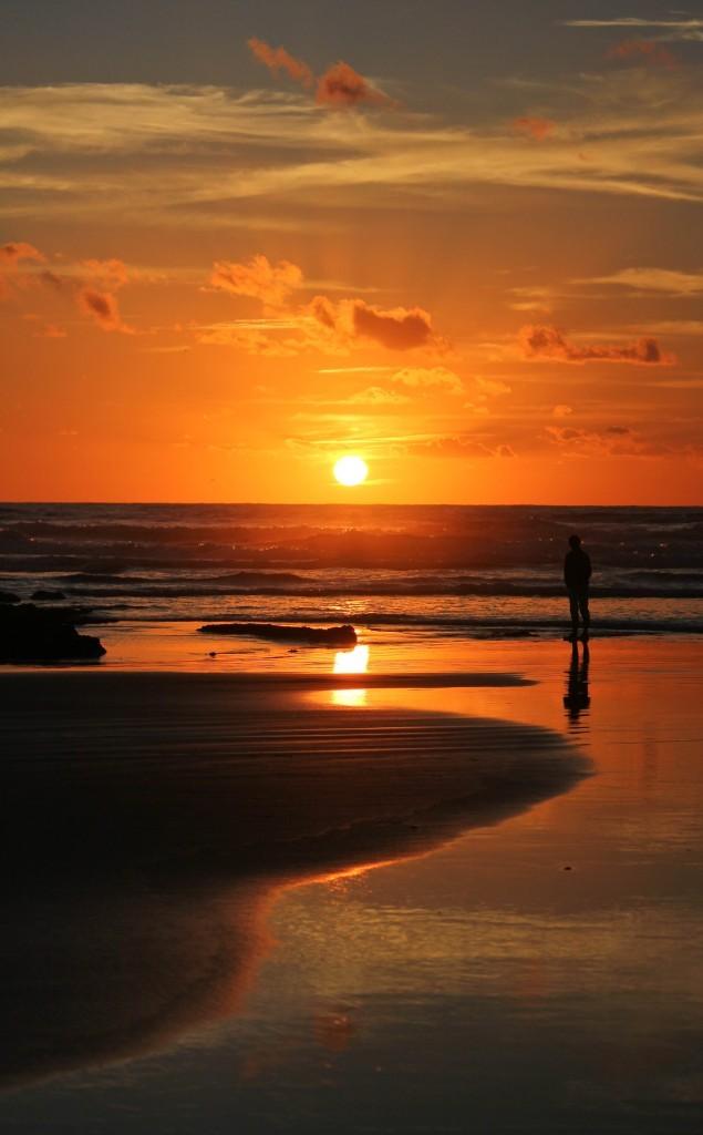 Coucher de soleil cote basque
