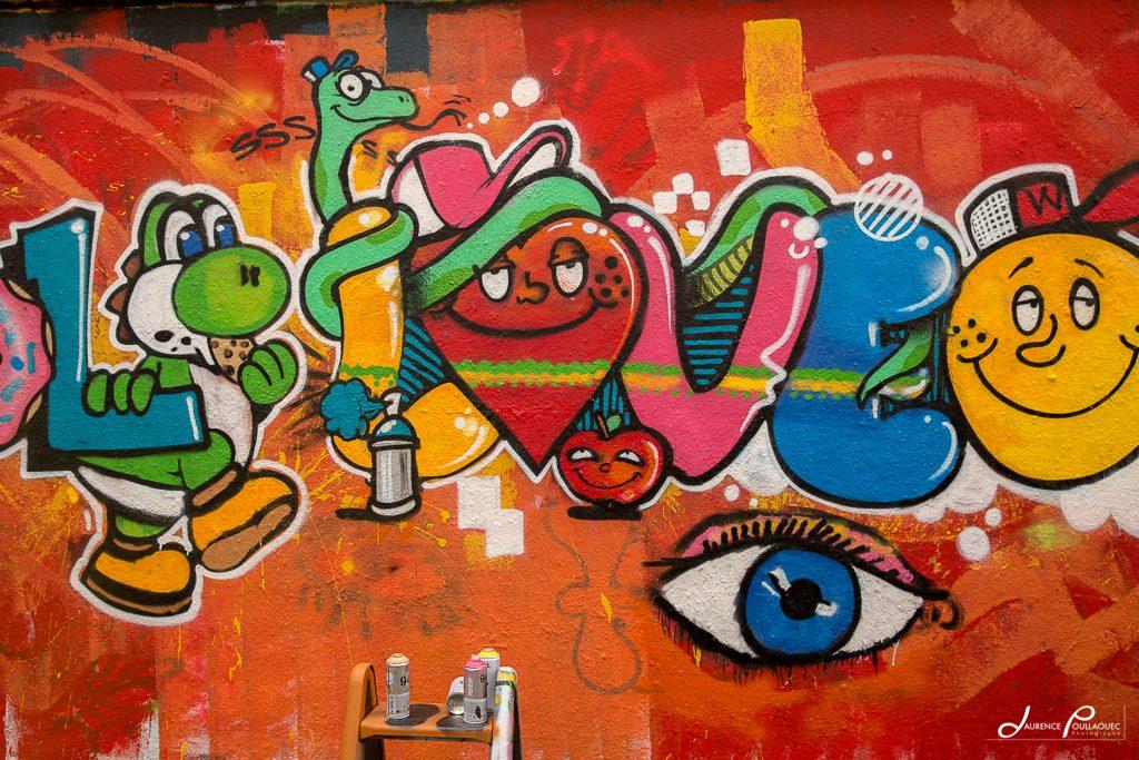 Graff à l'école d'art de Bayonne