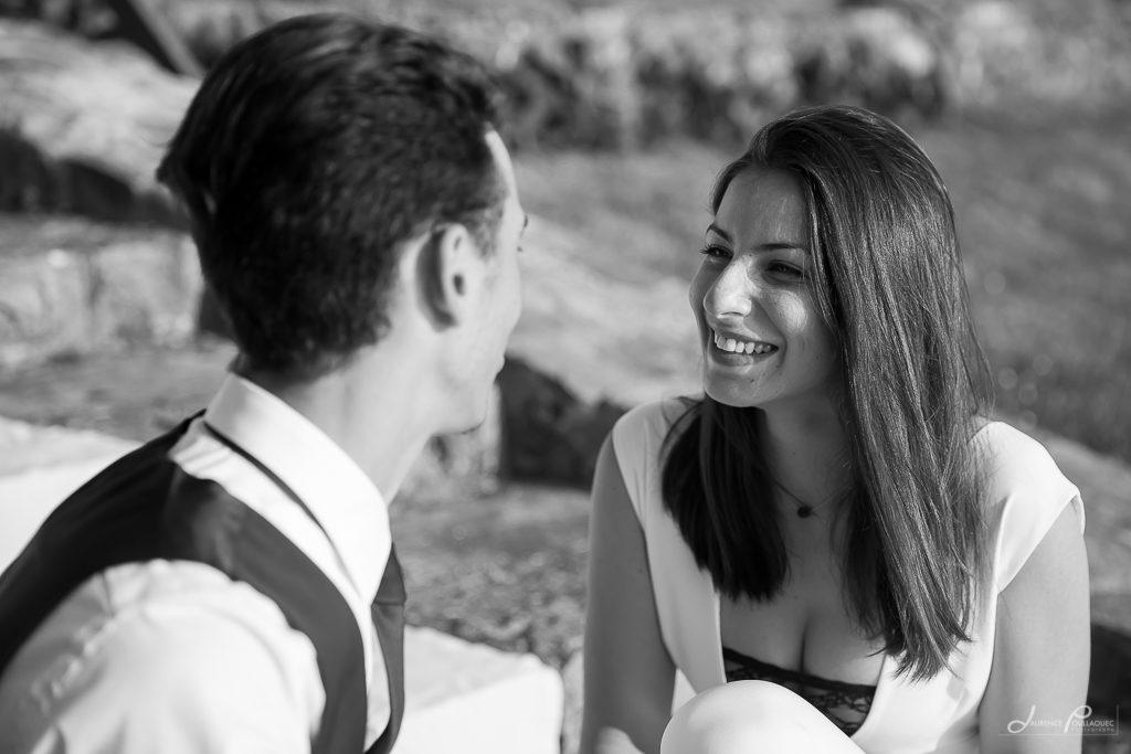 seance engagement couple photographe bidart