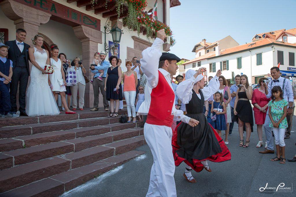 danse basque en honneur maries bidart