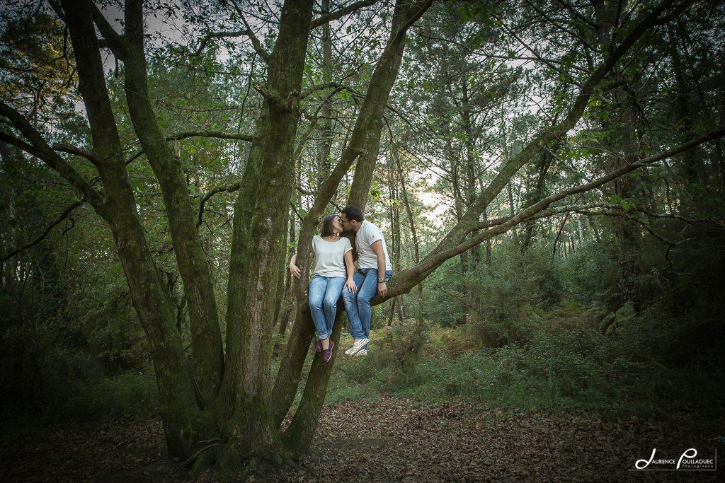 foret chiberta anglet seance couple laurence poullaouec photographe