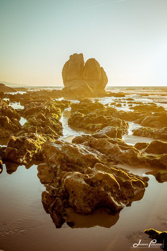 rocher coeur ocean plage bidart