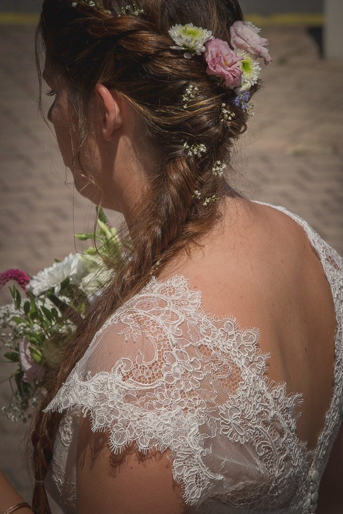 detail robe mariee angeola biarritz