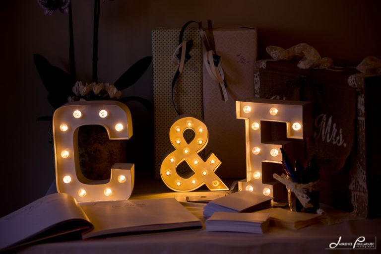 lettre lumineuse mariage
