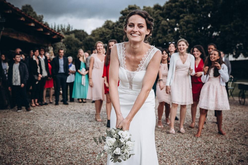 lancer bouquet de la mariée