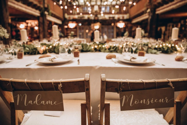 decoration chaise mariage
