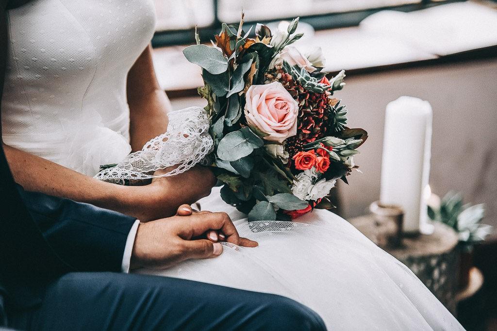 détail bouquet de la mariée bayonne