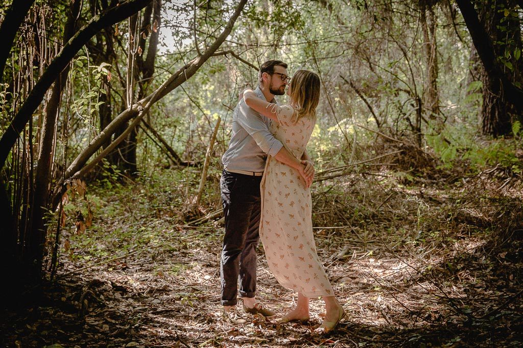 photo couple en foret