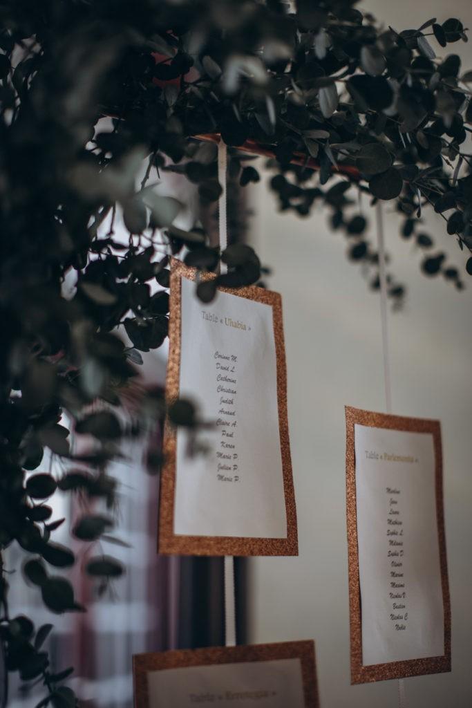 plan de table mariage bidart