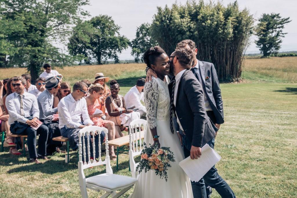 mariage ceremonie parc chateau