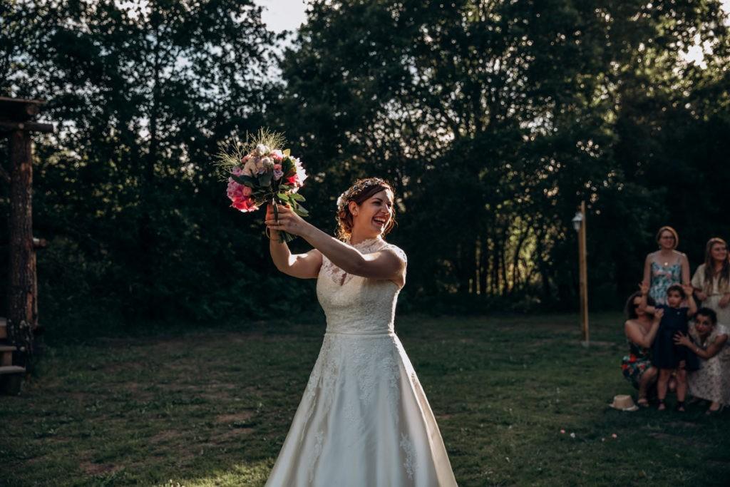 lancer bouquet de la mariee