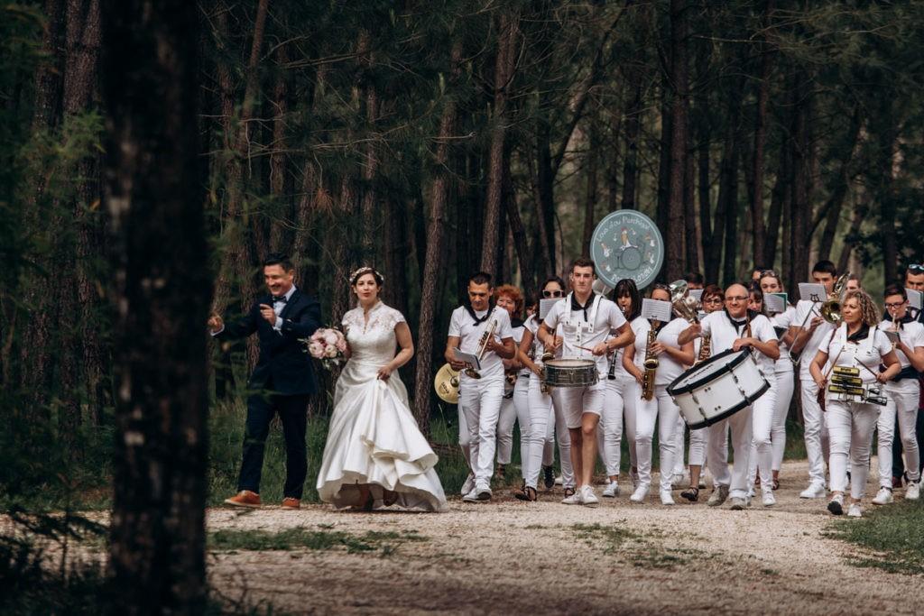 arrivée des mariés reception