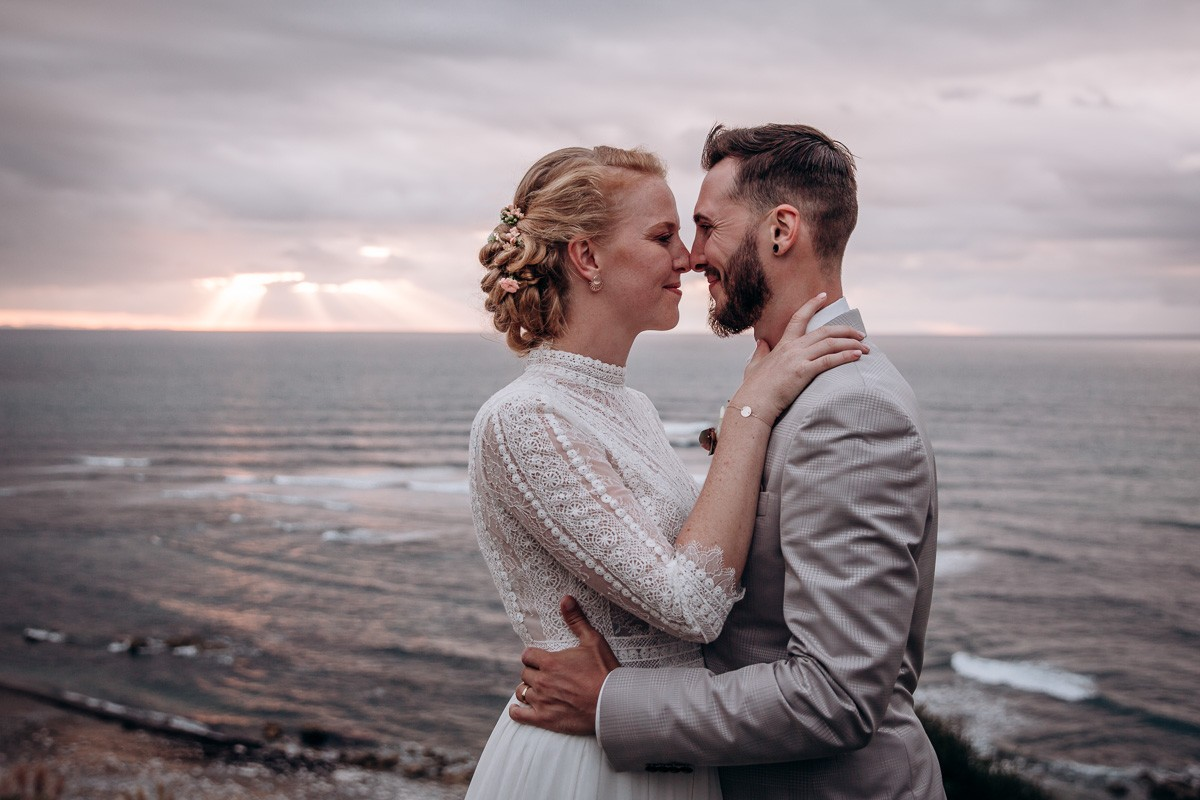 mariage au bord de l'ocean