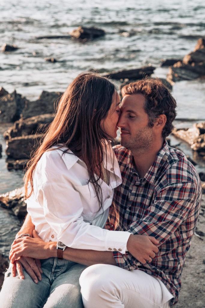 séance couple à l'ocean