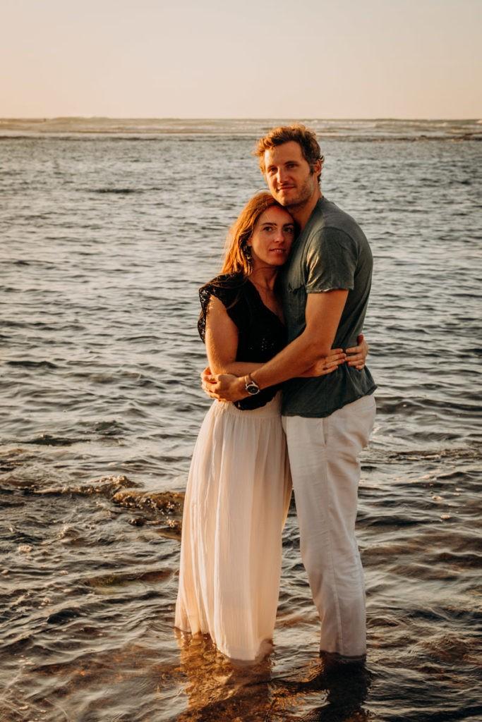 séance couple plage pays basque