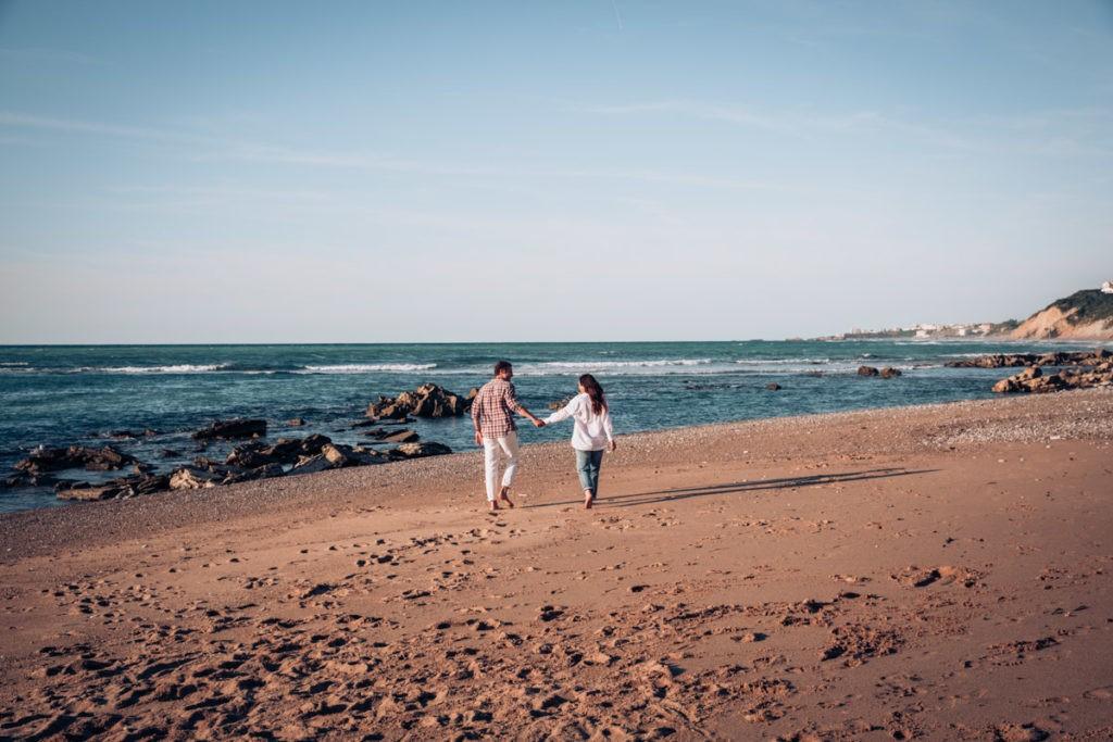 romantique seance couple plage