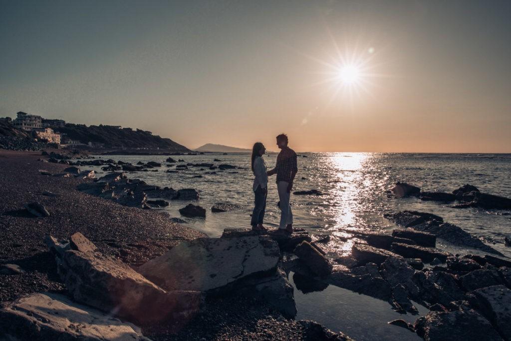séance couple sunset pays basque