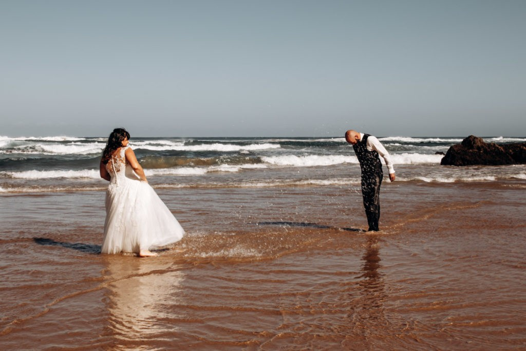 seance couple trash the dress