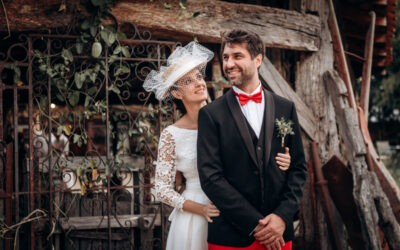Un mariage en rouge et noir