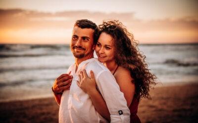 Seance couple à l'océan