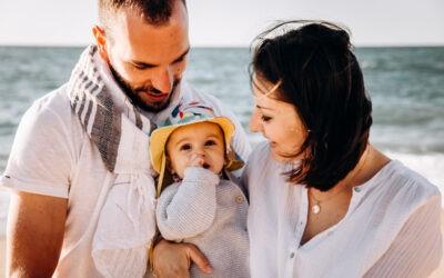 Seance photo famille à Biarritz