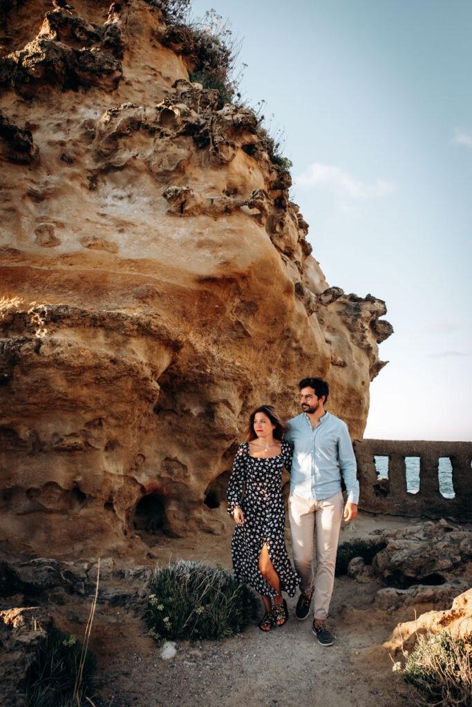 Séance couple rocher de la vierge