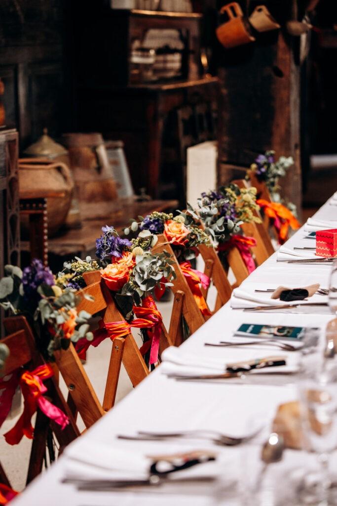 Mariage coloré et fleuri à la ferme inharria