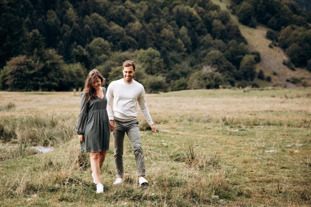 seance couple à la montagne