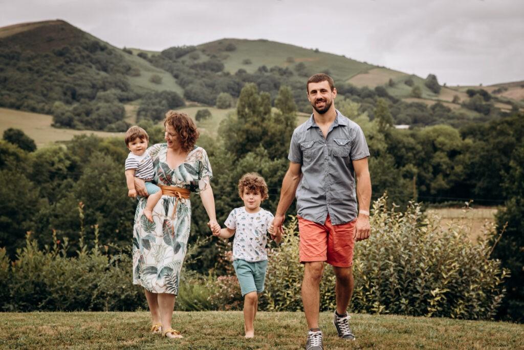 séance famille au pays basque