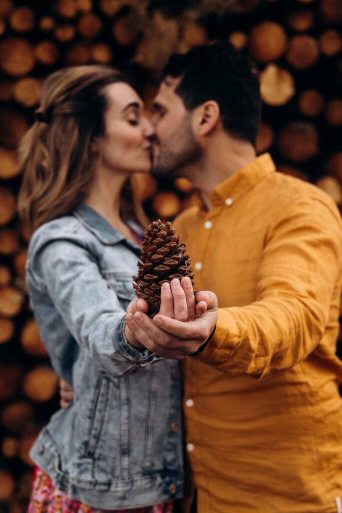 Séance engagement en foret de pins
