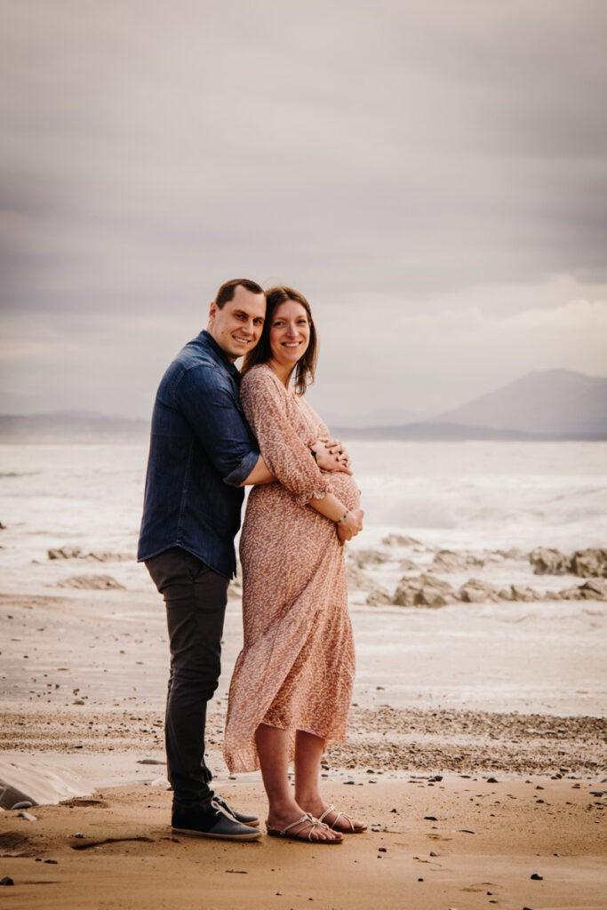 seance grossesse à la plage